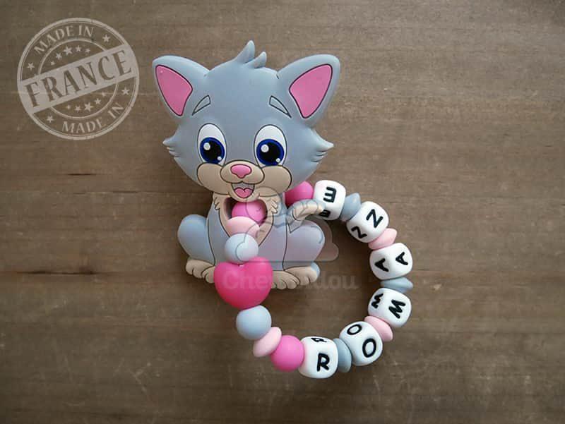 anneau de dentition silicone chat romane