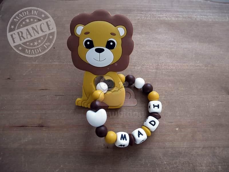 anneau de dentition silicone lion madi