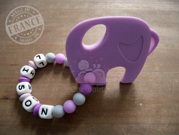 anneau de dentition silicone elephant lison