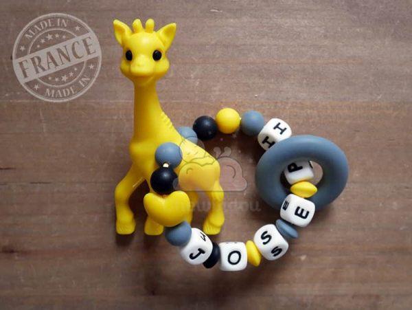 anneau de dentition silicone girafe joseph