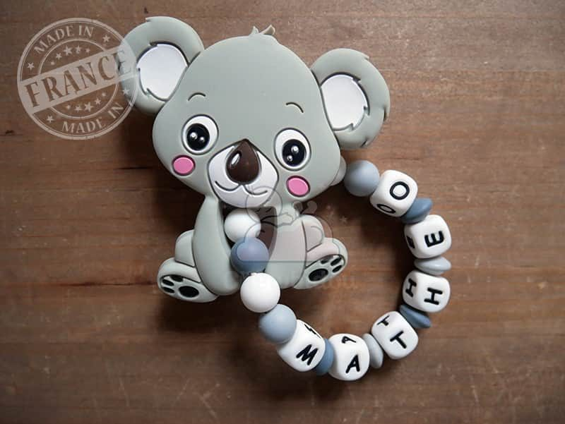 anneau de dentition silicone koala matheo