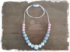 collier de portage silicone rose et gris