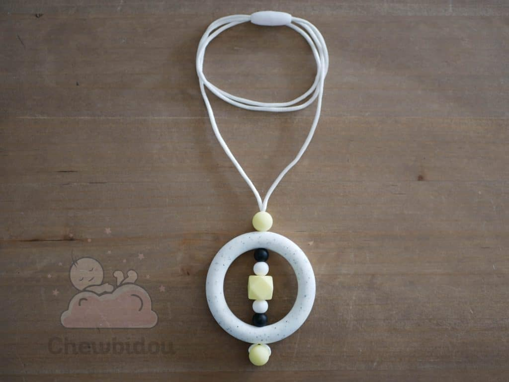 collier allaitement silicone blanc picte creme