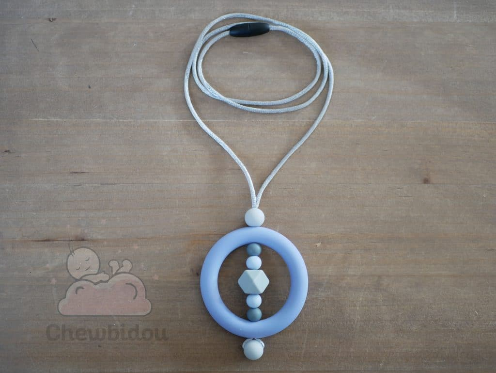 collier portage silicone bleu gris