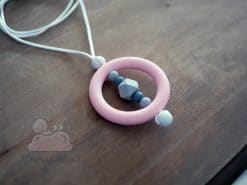 bijou silicone alimentaire rose et gris