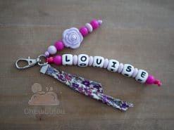 porte clés personnalisé rose lavande