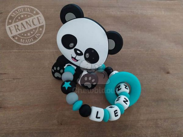 anneau de dentition silicone panda lenny