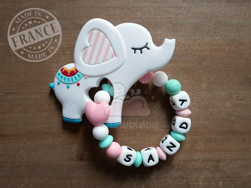 anneau de dentition silicone elephant sandy