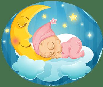 bébé qui tète son pouce en dormant